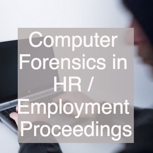 Computer Forensics in Human Resources / Employment Proceedings